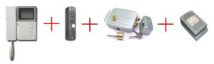 электромеханический замок с видеодомофоном