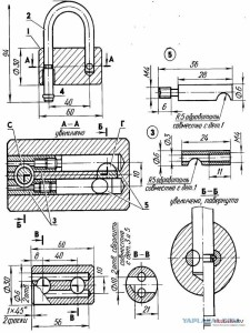 Схема навесного замка
